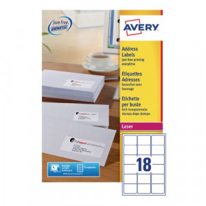Avery Quickpeel L7161-100 Laser Address Labels (Pack of 1800) | Code AVL7161